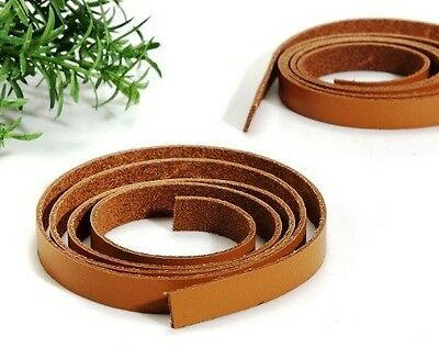 "36"" Camel 100% Genuine Leather Strap/Stamping Label for Purse Making Supply"