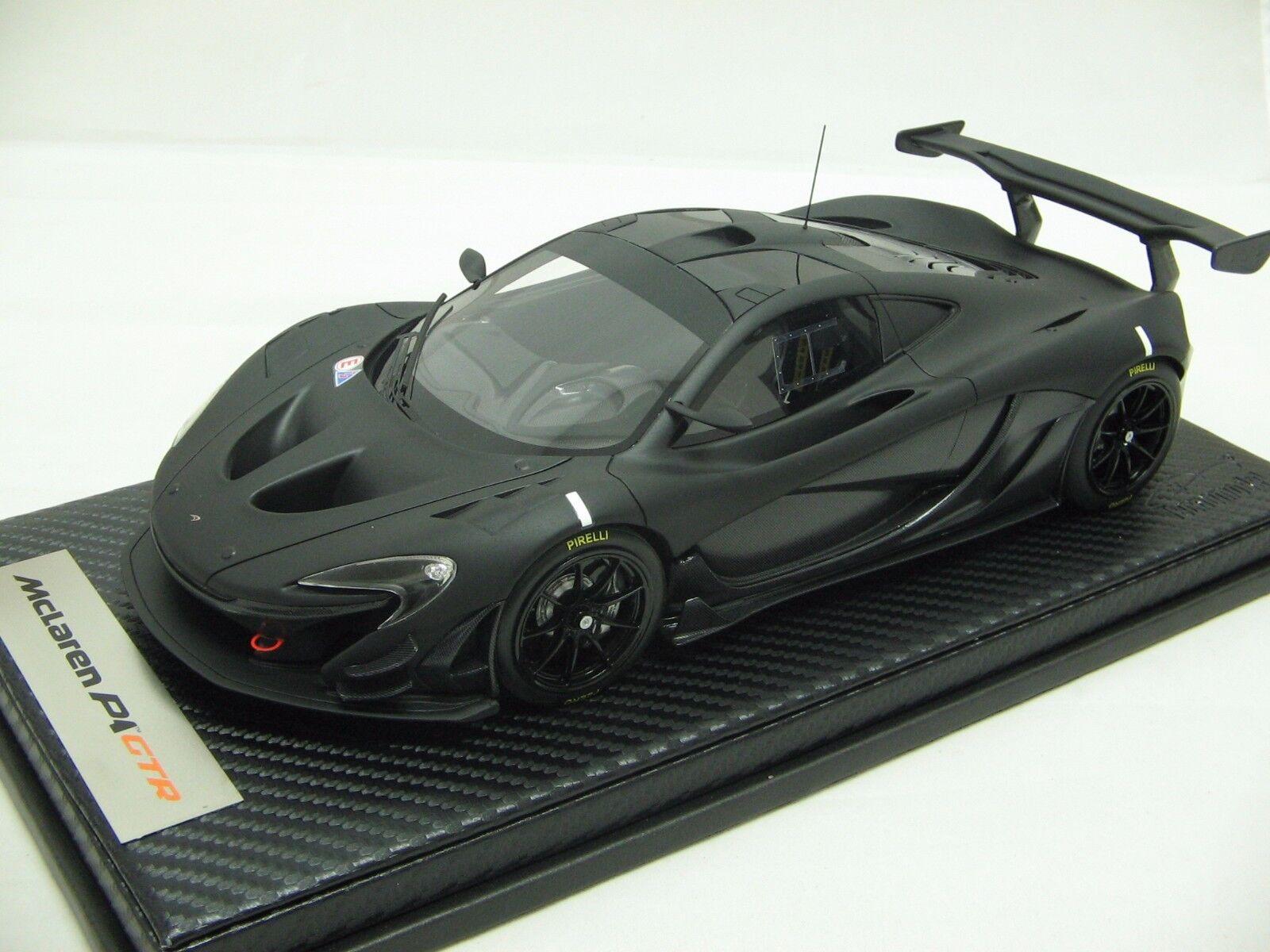 1 18 scale Tecnomodel McLaren P1 GTR Carbon nero Track Test 2015 - T18-EX03C