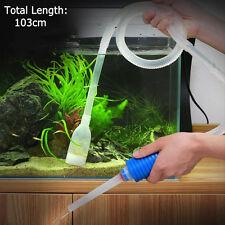 New Aquarium Gravel Battery Fish Tank Vacuum Syphon Cleaner Pump Water 103cmITBC