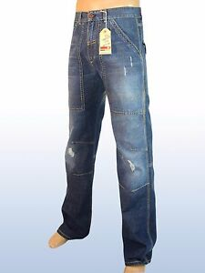 mail-project-jeans-uomo-blu-denim-dritto-taglia-it-45-w-31-pantalone-denim