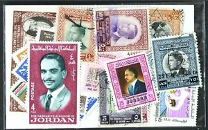 JORDAN-worthwhile-small-collection-25-different-stamps-lot-DP