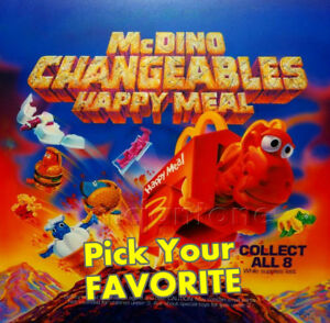 MIP-McDonald-039-s-1991-McDINO-CHANGEABLES-Dinosaur-Transformer-PICK-YOUR-FAVE-Toy