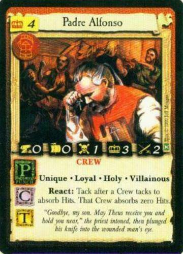 7th Sea CCG Played Padre Alfonso from set Broadsides AEG Pirate Based Alderac