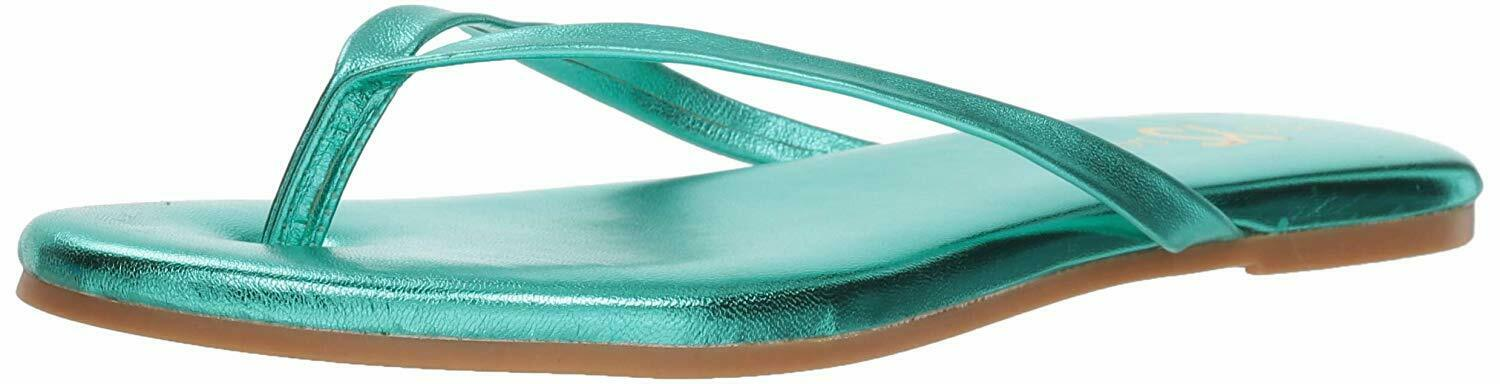 Femmes Yosi Samra Chaussures Plates Couleur Vert Seafoam Metallic Leather Taille