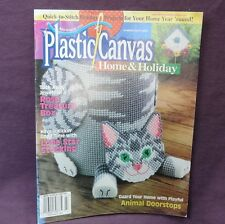 Plastic Canvas Home and Holiday Magazine July/Aug 2000 Animal Doorstops Country