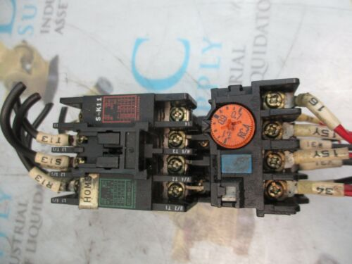MITSUBISHI S-K11 600 V 20 A 5.5 KW CONTACTOR W// TH-K12 OVERLOAD RELAY
