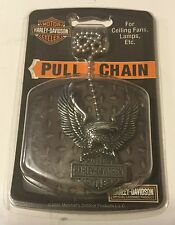HARLEY DAVIDSON PULL CHAIN Ceiling Fan, Lamps Etc. Eagle Bar And Shield
