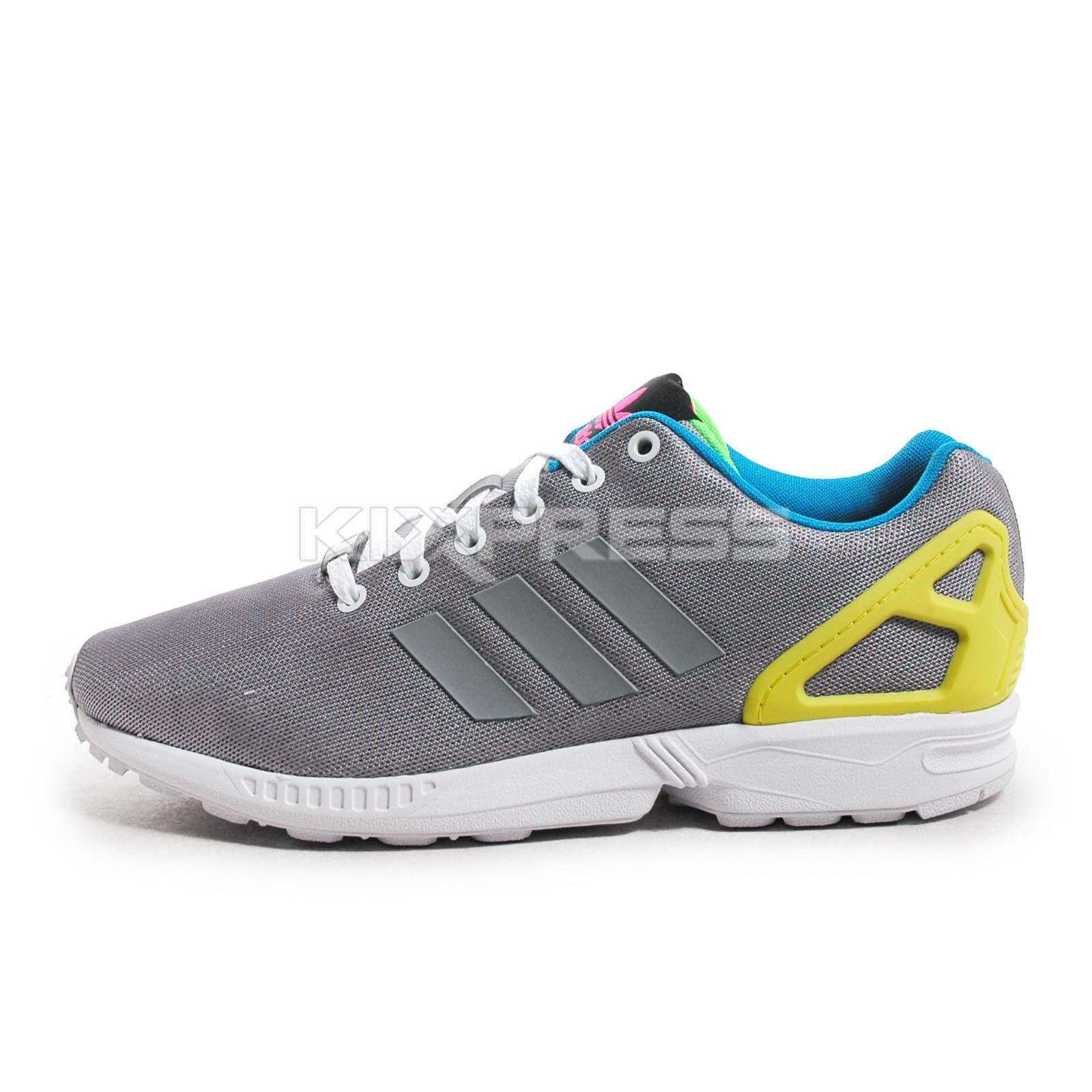 Adidas Originals ZX Flux [M21311] Chaussures de sport pour homme Argent / Jaune-Blanc