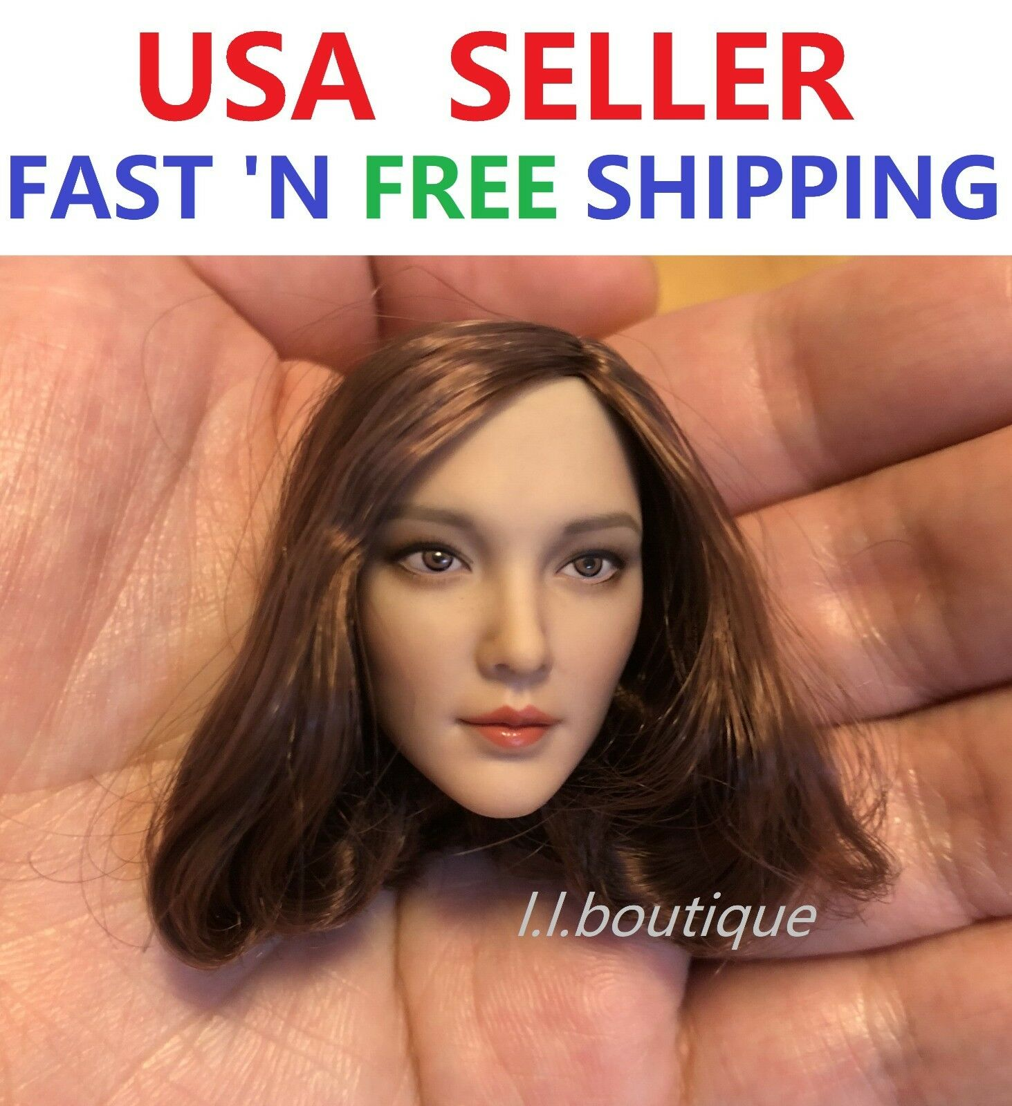 CAT TOYS 1 6 Female Head sculpt B for 12'' Female Figure Doll Phicen