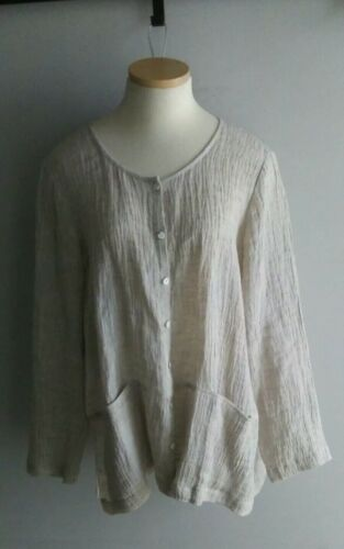 PURE J.Jill  Linen Crinkled Art-to-Wear Bohemian S