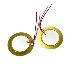 5PCS-35mm-Piezo-Elements-buzzer-Sounder-Sensor-Trigger-Drum-Disc-wire-copper