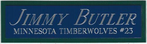 JIMMY BUTLER TIMBERWOLVES NAMEPLATE FOR Signed Basketball-JERSEY-PHOTO-FLOOR