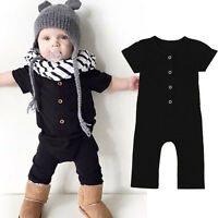 Toddler Baby Kids Girl Boy Jumpsuit Romper Playsuit Bodysuit Outfits Clothes UK