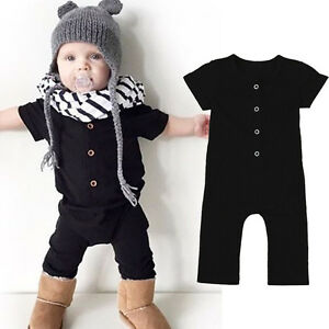 395d0a694322 Toddler Baby Kids Girl Boy Jumpsuit Romper Playsuit Bodysuit Outfits ...