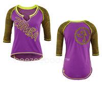 ZUMBA@ Funk It Up Baseball Tee. Purple. Z1T004484