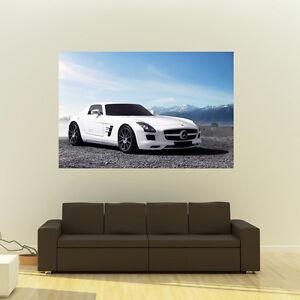 Poster of Mercedes SLS AMG Giant HD Huge 54x36 Inch Print 137x91 cm