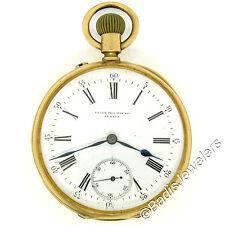 Antique 1860's Patek Philippe & Co. 18k Yellow Gold 12s Open Face Pocket Watch