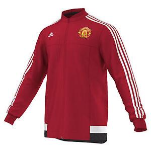 El diseño Vislumbrar aleatorio  adidas Manchester United LU Jacket 2015 - 2016 Soccer New Red / White   eBay
