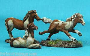 Ponies-3-20mm-metal-miniature-Warhammer-Miniature-Unpainted-Historical-wargame