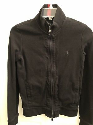 B26 RRP £15 M/&S COLLECTION Zipped Detail Fleece Jacket In Black//Navy