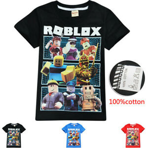 Hot Roblox Kids Fashion Leisure Cartoon Short Sleeve Tops Tshirts