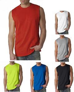 NEW-Men-039-s-Tank-Top-sleeveless-T-Shirts-Plain-Muscle-Gym-Tee-A-Shirt-100-Cotton