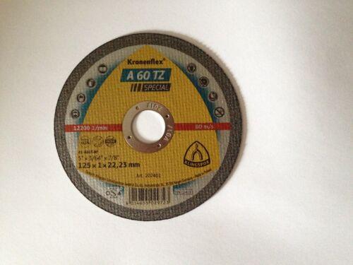 202401 10 Stück  Klingspor Inox Trennscheibe A 60 TZ   125x1,0  Art.-Nr