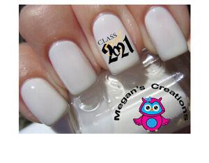class of 2021 graduation nail art decal  ebay