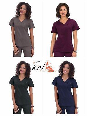 Koi Women/'s 294 Cora Stylish Shorter-Length V-Neck Scrub Top with 4-Way Stretch