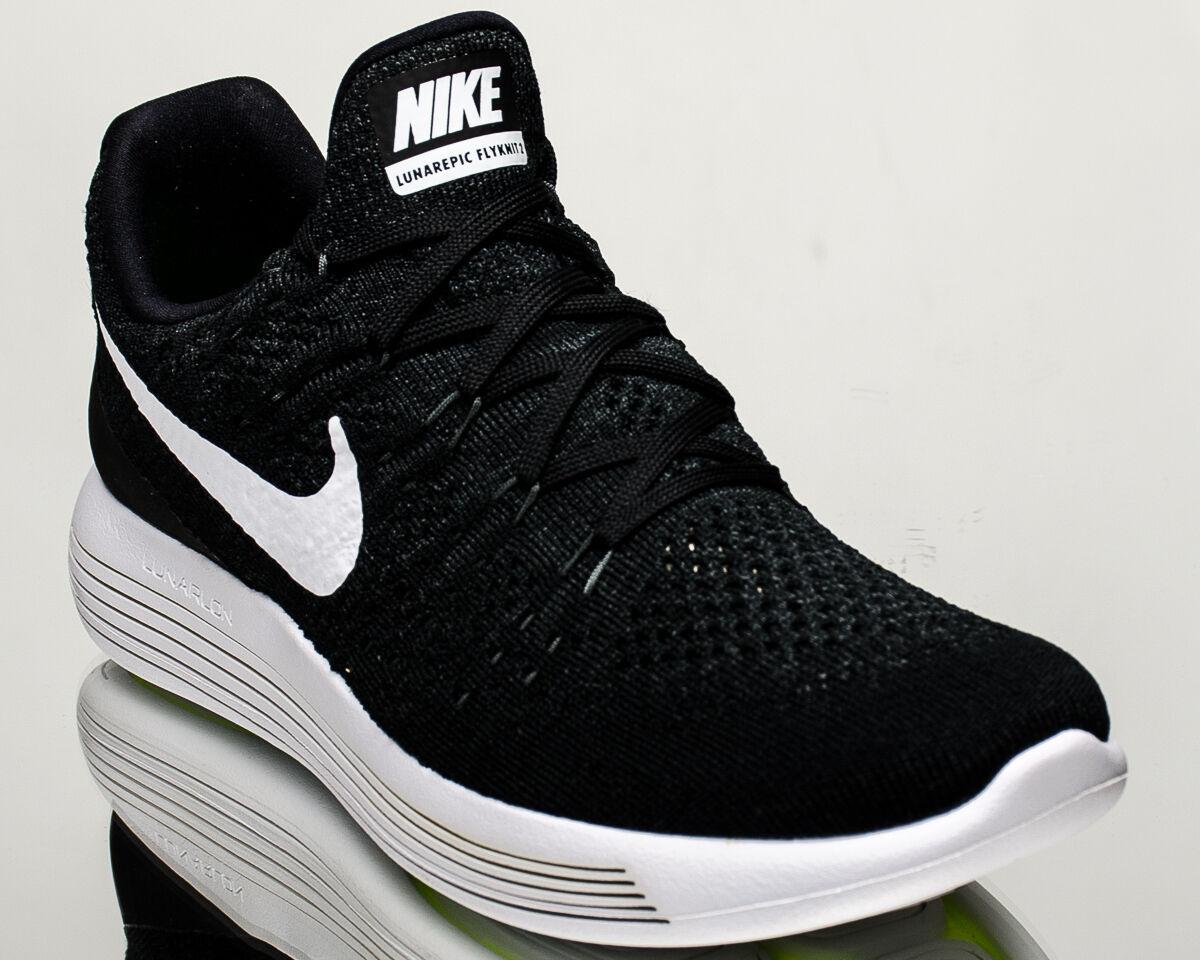 Nike Lunarepic Low Flyknit 2 II men running shoes black Last size 8US 863779-001