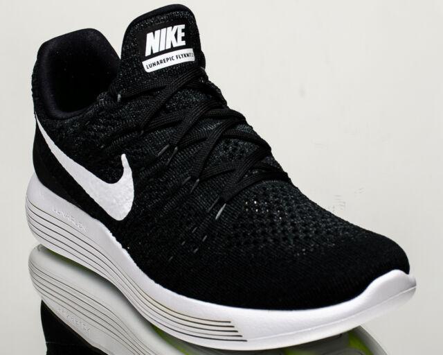 742bc7626c2a9 Nike Lunarepic Low Flyknit 2 II men running shoes black Last size 8US 863779 -001