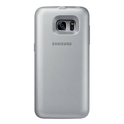 100% New Genuine Samsung Galaxy S7 Backpack Battery Case Capacity 3,100mAh Silve