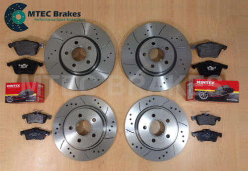 Rover MG ZS 2.5 V6 180 MTEC Drilled Grooved Brake Discs Front Rear /& Mintex Pads