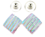DICHROIC-Post-EARRINGS-1-2-034-12mm-Clear-Green-Verdigris-Stripes-Fused-GLASS-STUDS thumbnail 1
