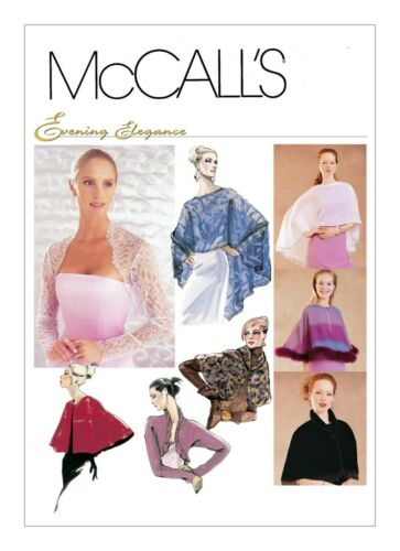 M3033 McCall/'s Misses/' Evening Cover-Ups Optional trim detail McCall/'s M3033
