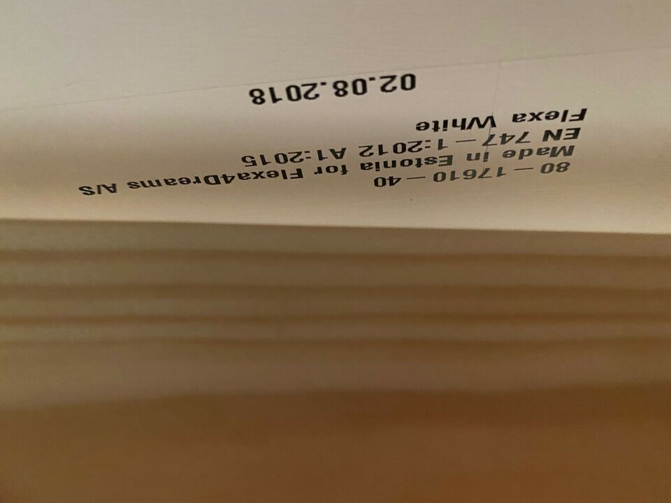 Enkeltseng, Flexa White, b: 101 l: 210 h: 67