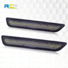 For 2010 2014 Ford Mustang Led Smoked Lens Front Side Marker Lights With White Fits Mustang