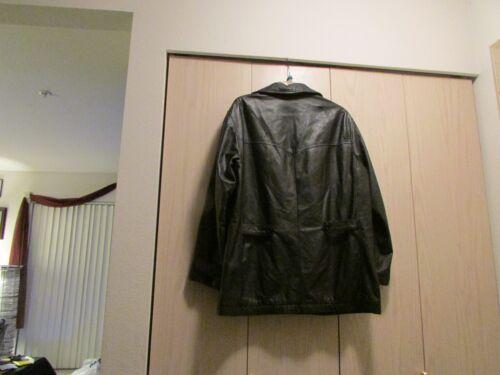 Stor sort størrelse Klassisk fuld læderjakke CqTtpZ