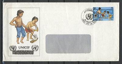 """Anguilla Fdc """" Unicef """" 31.07.1981"""