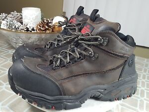 1f46b131846d Skechers Brown Black Leather Steel Toe Work Boots 6