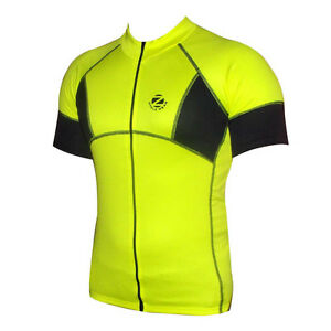 8aa9aa7b0 Zimco Cycling Bike Cycle Short Sleeve Jersey Shirt Biking Yellow ...