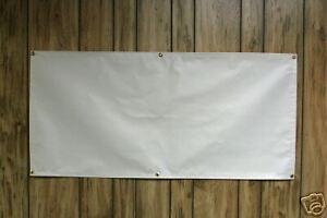 NEW X Blank White Oz Vinyl Banner Sign EBay - Blank vinyl banners