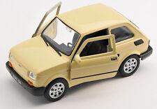 Spedizione LAMPO FIAT 126 P Beige Welly Modello Auto 1:27 NUOVO & OVP