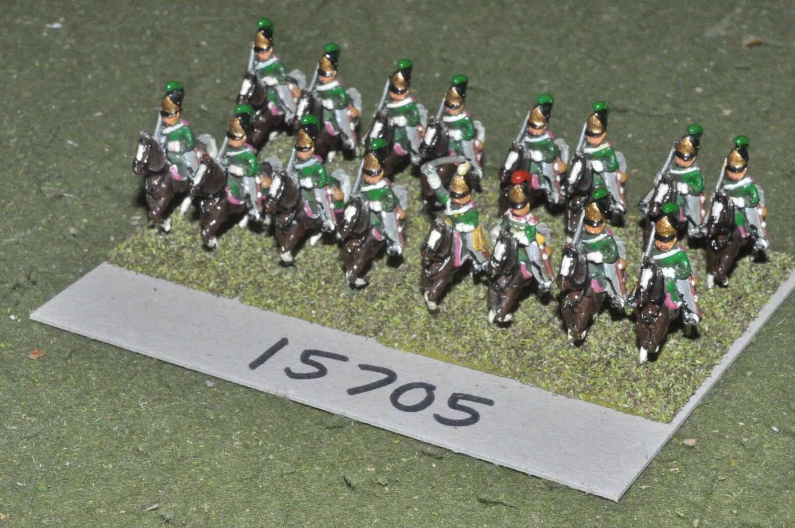 15mm napoleonic   russian - dragoons 16 cavalry - cav (15705)