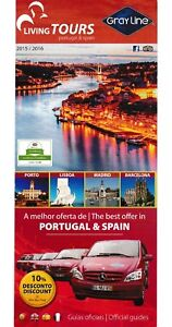 Spain Portugal Living Tours Gray Line  Map 2015-16 Bus Car