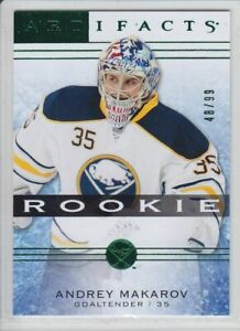 2014-15-UD-ARTIFACTS-ANDREI-MAKAROV-RC-99-EMERALD-GREEN-128-ROOKIE-Deck-Sabres