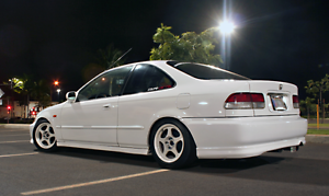 15X7 +40 SLIPSTREAM 4X100 WHITE WHEELS Fits Integra Civic ...