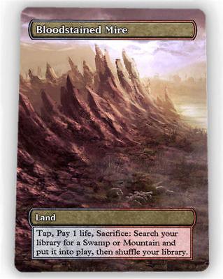 === 4X Bloodstained Mire X4 == Full Art Borderless == Magic Lotus cartes