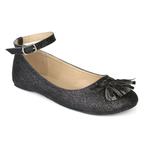 Kids And Toddler Faux Leather Tassel Glitter Dress Shoes Brinley Co