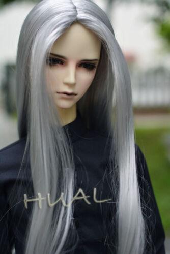 "7-8/"" 1//4 BJD Silver Gray Long Wig LUTS Doll SD DZ DOD MSD Soom Fairyland Hair #L"